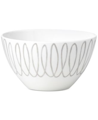 Charlotte Street East Grey Collection Soup/Cereal Bowl