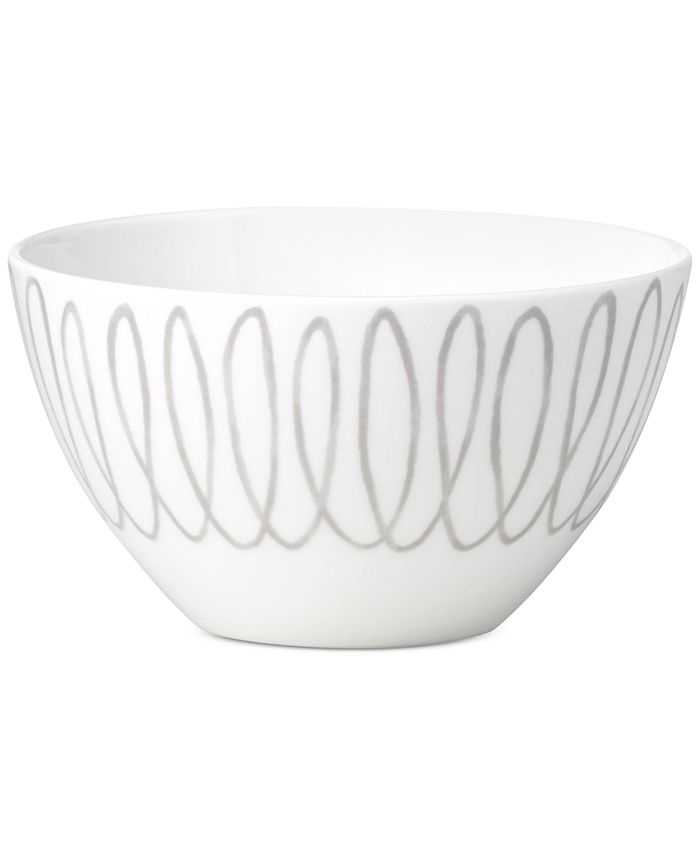 kate spade new york - Charlotte Street East Grey Collection Soup/Cereal Bowl