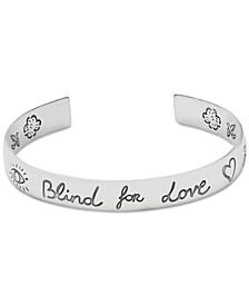 Women's Blind for Love Sterling Silver Cuff Bracelet
