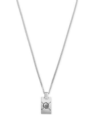 Men\u0027s Gucci Ghost Sterling Silver Pendant Necklace