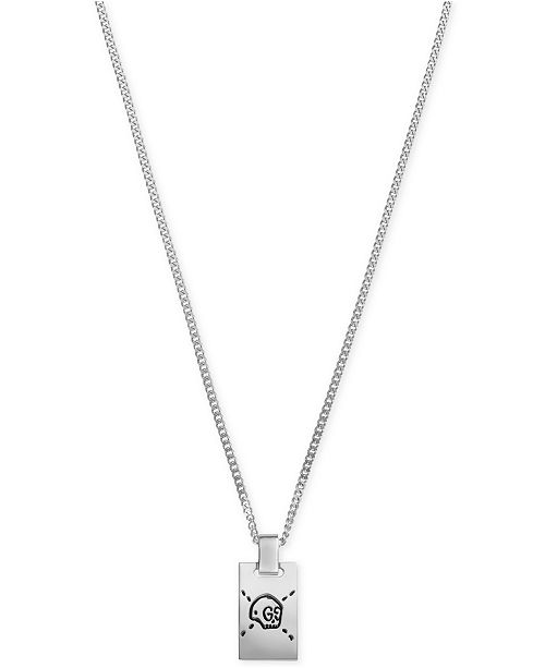4c0d6546307 Gucci Men s Gucci Ghost Sterling Silver Pendant Necklace YBB45531500100U