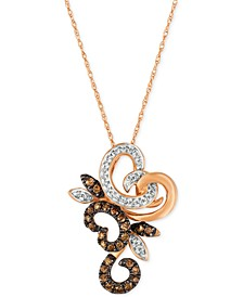 Chocolatier® Diamond Pendant Necklace (1/3 ct. t.w.) in 14k Rose Gold