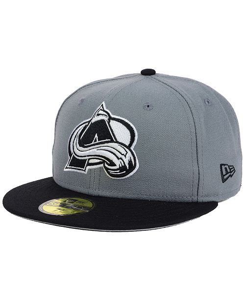 5d9a4fa6424 New Era. Colorado Avalanche Gray Black 59FIFTY Cap. Be the first to Write a  Review. main image ...