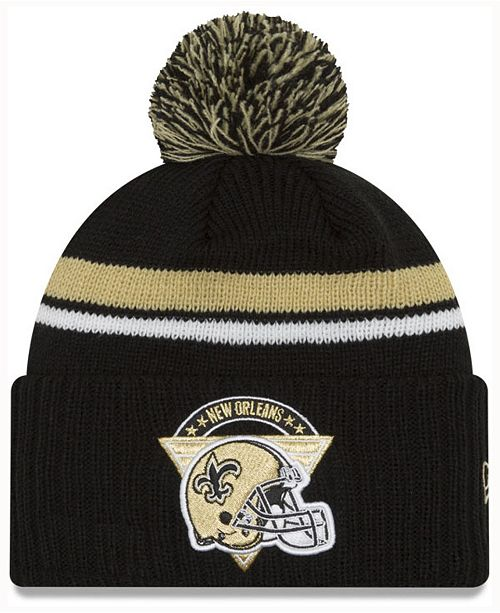 low cost super quality great fit New Era New Orleans Saints Diamond Stacker Knit Hat & Reviews ...