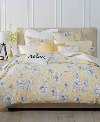 Charter Club Damask Designs Butter Floral Bedding