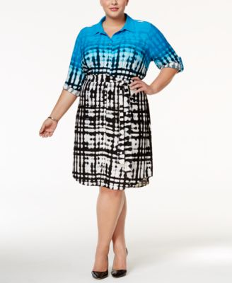 Calvin Klein Plus Size Printed Shirtdress