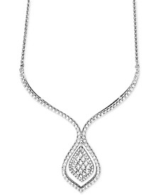 Diamond Statement Necklace (1-1/2 ct. t.w.) in 14k White Gold, Created for Macy's