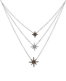 Chocolatier® Diamond Layer Statement Necklace (1/3 ct. t.w.) in 14k White Gold
