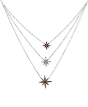 Chocolatier Diamond Layer Statement Necklace (1/3 ct. t.w.) in 14k White Gold