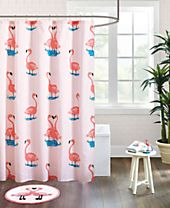 HipStyle Pinky Printed Cotton Shower Curtain