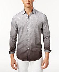 I.N.C. Men's Ombré Geometric Pattern Shirt, Created for Macy's