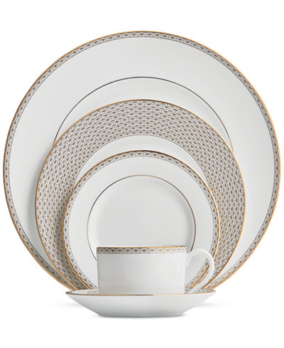 Waterford Lismore Diamond Gold Collection 5-Piece Place Setting