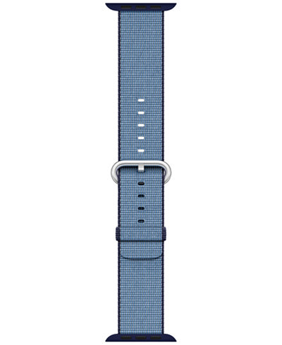 Apple Watch 38mm Navy/Tahoe Blue Woven Nylon Band