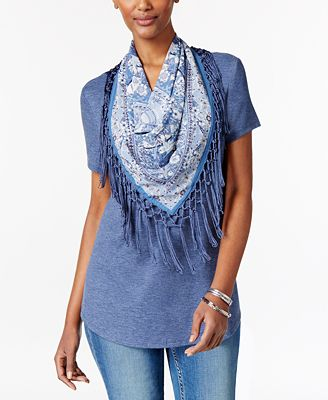 style co t shirt with fringe scarf only at macy s