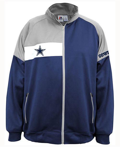 Majestic Men s Dallas Cowboys Court Track Jacket - Sports Fan Shop ... 866646a66