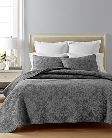 CLOSEOUT! Martha Stewart Collection Gilded Age 100% Cotton Twin Quilt, Created for Macy's