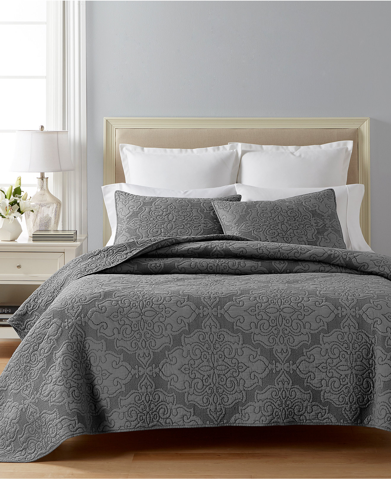 Quilts and Bedspreads   Macy s Martha Stewart Collection Gilded Age Reversible Quilt and Sham Collection   Created for Macy s. Bedroom Quilts. Home Design Ideas