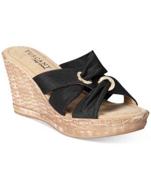 Easy Street Tuscany Solaro Wedge Sandals Women