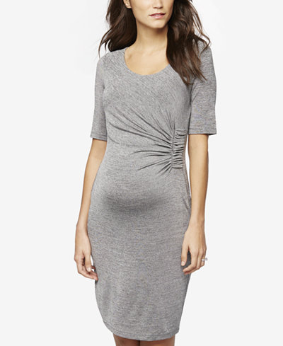 A Pea In The Pod Maternity Ruched Sheath Dress