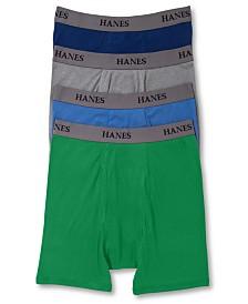 Hanes Platinum Men's Underwear, Dyed Boxer Brief 4 Pack