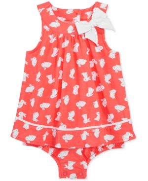 First Impressions BunnyPrint Skirted Romper Baby Girls (024 months) Created for Macys