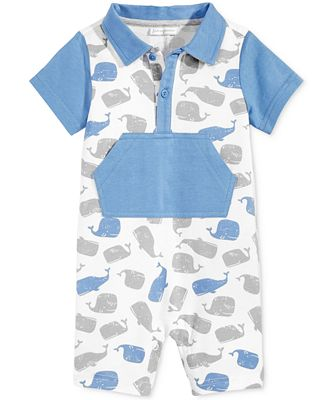 First Impressions Whale-Print Romper, Baby Boys (0-24 months), Only at Macy's