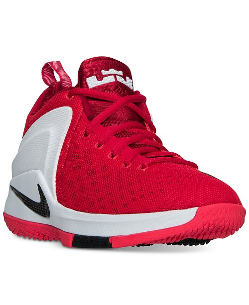 2d23f795c2e29 ... Nike Big Boys  LeBron Zoom Witness Basketball Sneakers from Finish ...