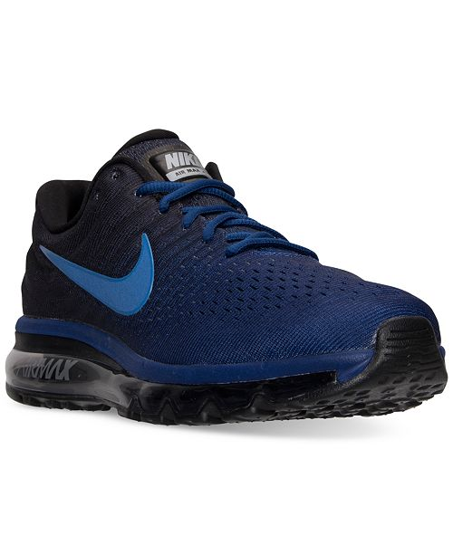 timeless design 6ebe6 0b893 ... Nike Mens Air Max 2017 Running Sneakers from Finish ...