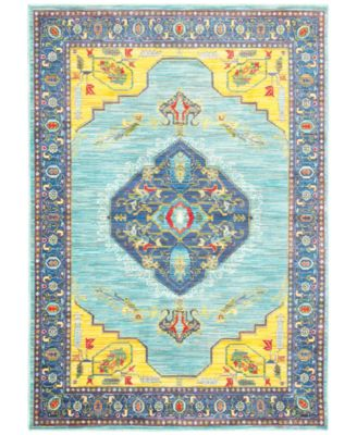 """CLOSEOUT! Vibe Mission Blue 9'10"""" x 12'10"""" Area Rug"""