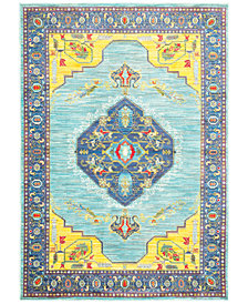 "JHB Design Vibe Mission Blue 2'3"" x 7'6"" Runner Rug"
