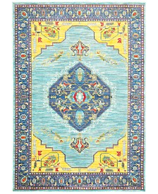 "CLOSEOUT! JHB Design Vibe Mission Blue 6'7"" x 9'6""Area Rug"