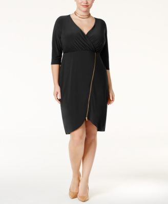 Love Squared Trendy Plus Size Zipper-Detail Dress