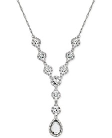 Silver-Tone Crystal Y Necklace, Created for Macy's