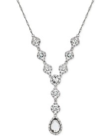 Charter Club Silver-Tone Crystal Y Necklace, Created for Macy's