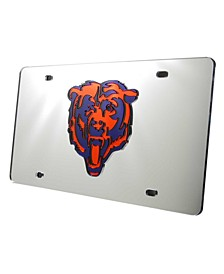 Chicago Bears Acrylic Laser Tag License Plate