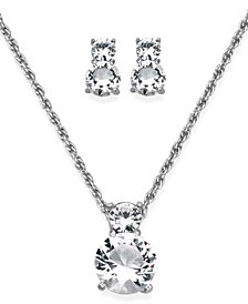 Swarovski Pendant and Earrings Set, Crystal