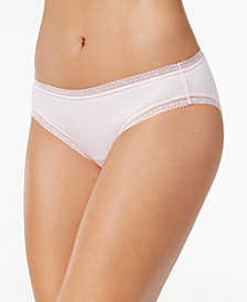 Charter Club Cotton Lace-Trim Bikini, Created for Macy's