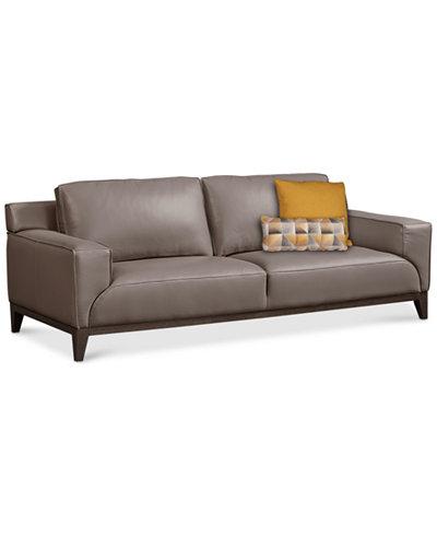 Ticino Leather Sofa, Created for Macy's. Furniture - Ticino Leather Sofa, Created For Macy's - Furniture - Macy's