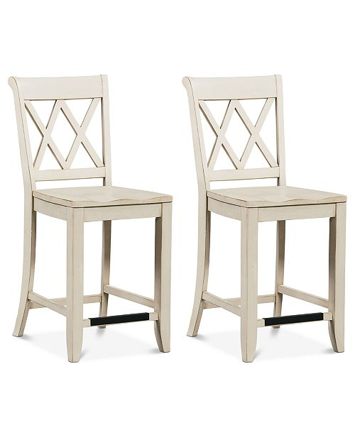 Furniture Carsen X-Back Stools, Set of 2