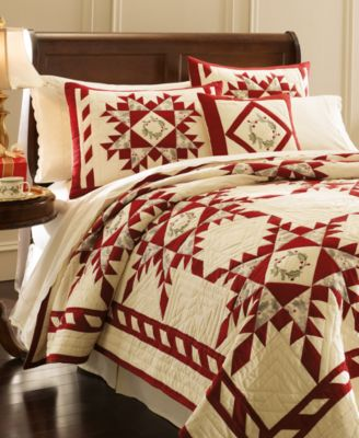 Lenox Bedding, Holiday Gathering Quilts