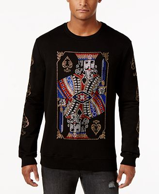Hudson NYC Men's King of Spades Crewneck Sweatshirt