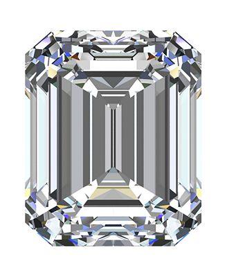 GIA Certified Diamond Emerald (1/2 ct. t.w.)