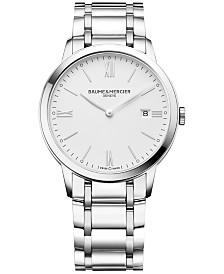 Baume & Mercier Men's Swiss Classima Stainless Steel Bracelet Watch 40mm M0A10354