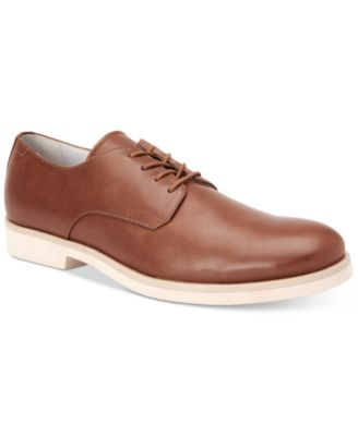 Image of Calvin Klein Men's Faustino Washed Leather Oxfords
