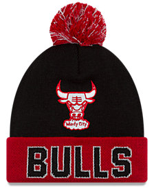 New Era Chicago Bulls Hardwood Court Big Reflective Knit Hat