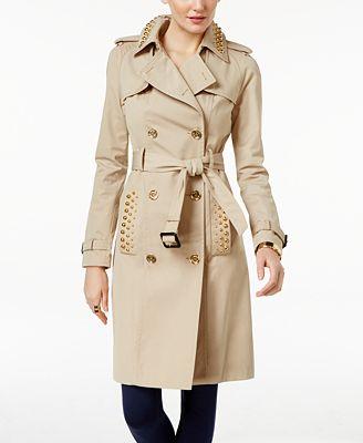 MICHAEL Michael Kors Studded Trench Coat