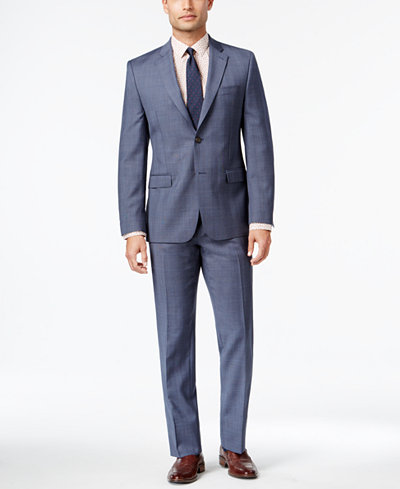 Lauren Ralph Lauren Men's Slim-Fit Glen Plaid Wool Suit - Suits ...