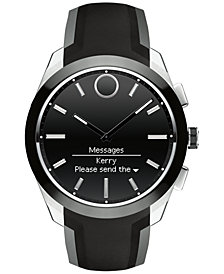 Movado Men's Swiss Bold Motion Connected II Black Silicone Strap Smart Watch 44mm 3660012