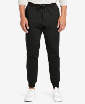 POLO RALPH LAUREN Men'S Big & Tall Double-Knit Tech Jogger Pants in Polo Black