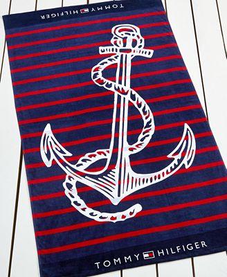 Tommy Hilfiger Trans Anchor Beach Towel